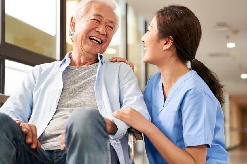 man and nurse